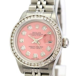 Rolex Lady Datejust Pink Diamond Dial 26mm Watch